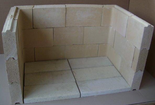 Fußbodenplatten Mit Nut Und Feder ~ Kamineinsatz aus nut feder steinen compl mm